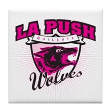 La Push Wolves Team Emblem (pink) Tile Coaster
