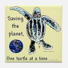 One Leatherback Baby Tile Coaster