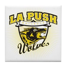 La Push Wolves Team Emblem (gold) Tile Coaster