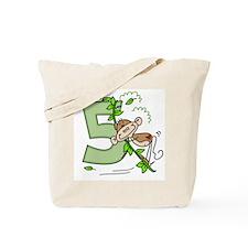 Stick Monkey Swing 5th Birthday Tote Bag