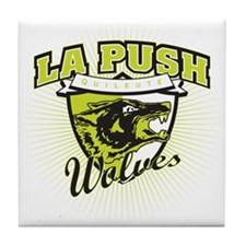 La Push Wolves Emblem (green) Tile Coaster