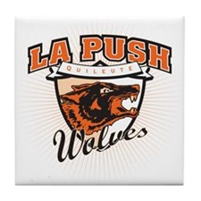 La Push Wolves Emblem (fiery red) Tile Coaster