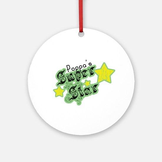 Poppa's Super Star Ornament (Round)