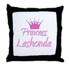 Princess Lashonda Throw Pillow