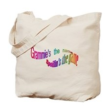 Grammie's the name, Spoilin's Tote Bag