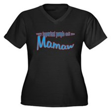 Mamaw's the name, spoilin's t Women's Plus Size V-
