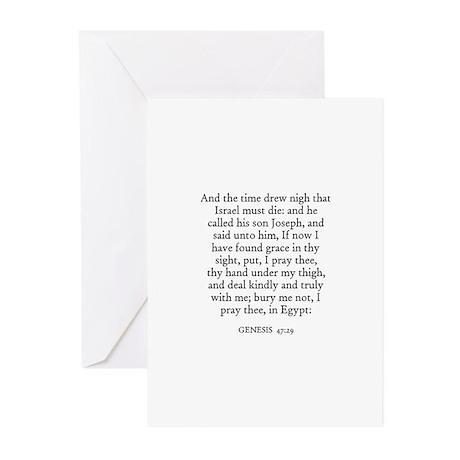 GENESIS 47:29 Greeting Cards (Pk of 10)