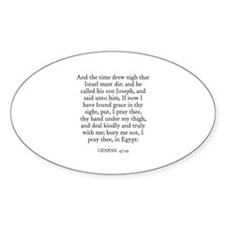 GENESIS 47:29 Oval Decal