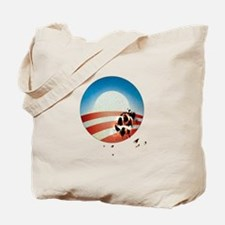 Obama Vote by Dog Paw Tote Bag