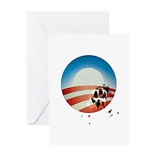 Obama Vote by Dog Paw Greeting Card