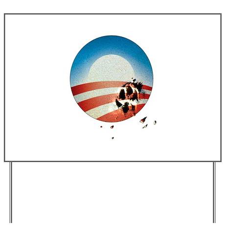 Obama Vote by Dog Paw Yard Sign