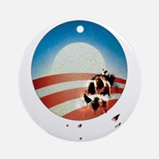 Obama Vote by Dog Paw Ornament (Round)