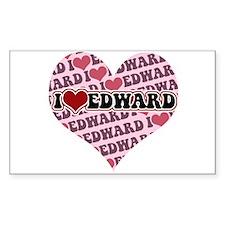 I love Edward Rectangle Decal