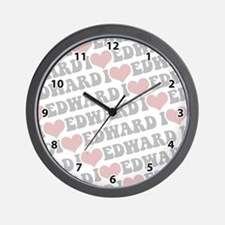 I love Edward Wall Clock