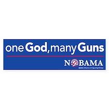 one God, many Guns, sticker