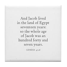 GENESIS  47:28 Tile Coaster