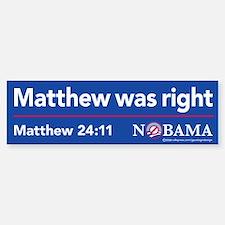 Matthew was right, sticker