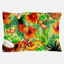 Tropical Summer Fruit Exotic Pattern Pillow Case