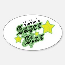 YiaYia's Super Star Oval Decal