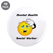 "Mental Health Social Worker 3.5"" Button (10 p"