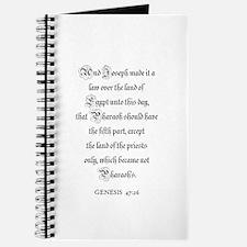 GENESIS 47:26 Journal