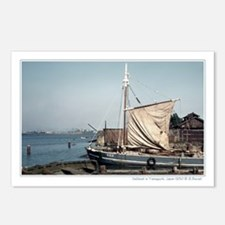 Japanese sailboat Yamaguchi, Japan postcards