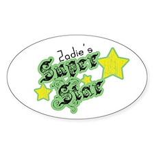 Zadie's Super Star Oval Decal