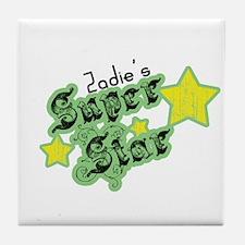 Zadie's Super Star Tile Coaster