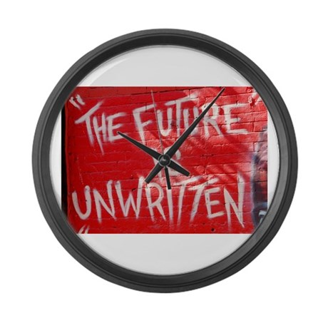 The Future is Unwritten Large Wall Clock