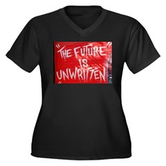The Future is Unwritten Women's Plus Size V-Neck D