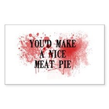 Sweeny Todd's Meat Pie Rectangle Decal