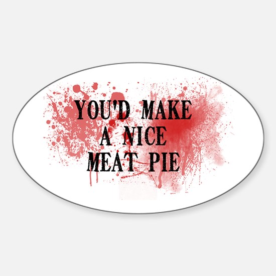 Sweeny Todd's Meat Pie Oval Decal