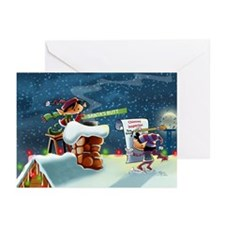 Rooftop Elves Greeting Cards (Pk of 10)