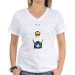 WTD: Big Face Women's V-Neck T-Shirt