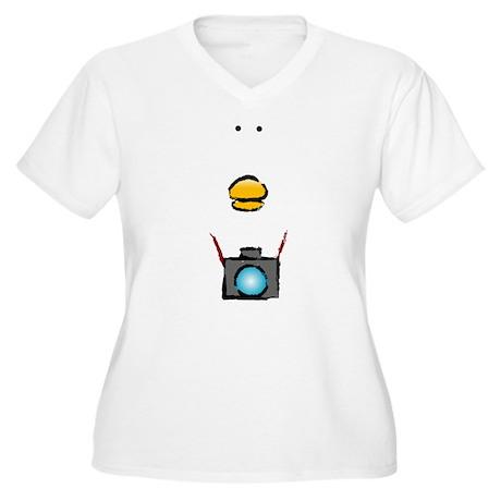 WTD: Big Face Women's Plus Size V-Neck T-Shirt