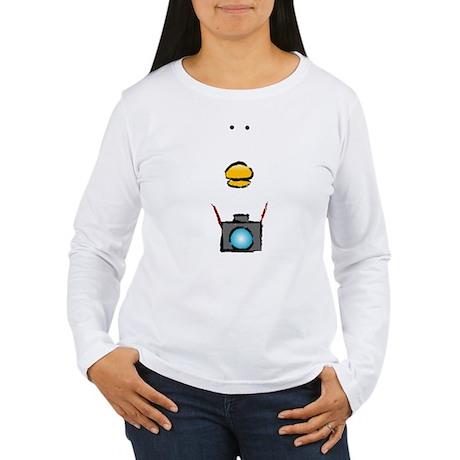 WTD: Big Face Women's Long Sleeve T-Shirt