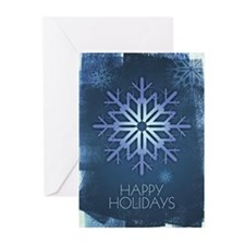 Blue Snowflake Holiday Greeting Cards (Pk of 10)