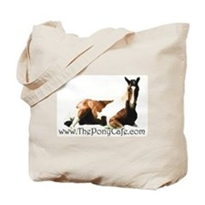 The Pony Cafe Pinto Horse Tote Bag