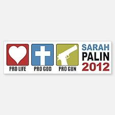 Pro Life, Pro God, Pro Gun Pa Bumper Bumper Bumper Sticker