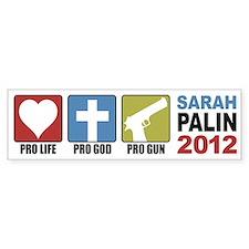 Pro Life, Pro God, Pro Gun Pa Bumper Bumper Sticker