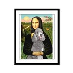 Mona Lia/Std Poodle (silver) Framed Panel Print