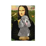 Mona Lia/Std Poodle (silver) Rectangle Magnet