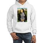 Mona Lia/Std Poodle (silver) Hooded Sweatshirt