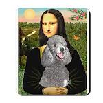 Mona Lia/Std Poodle (silver) Mousepad