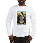 Mona Lia/Std Poodle (silver) Long Sleeve T-Shirt
