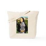 Mona Lia/Std Poodle (silver) Tote Bag