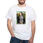 Mona Lia/Std Poodle (silver) White T-Shirt