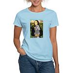 Mona Lia/Std Poodle (silver) Women's Light T-Shirt