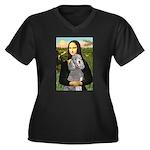 Mona Lia/Std Poodle (silver) Women's Plus Size V-N