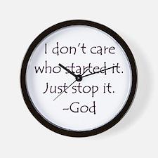 JUST STOP IT! -GOD Wall Clock
